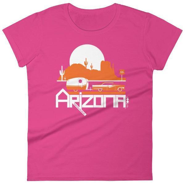 Arizona Retro Route 66 Women's Short Sleeve T-shirt T-Shirt Hot Pink / 2XL designed by JOOLcity