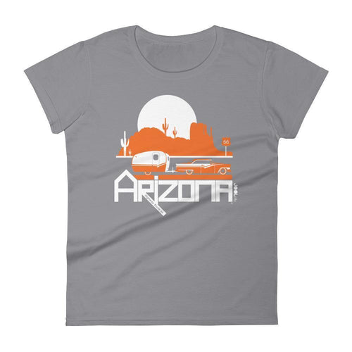 Arizona Retro Route 66 Women's Short Sleeve T-shirt T-Shirt Storm Grey / 2XL designed by JOOLcity