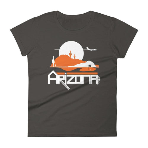 Arizona Tee High Women's Short Sleeve T-shirt T-Shirt Smoke / 2XL designed by JOOLcity