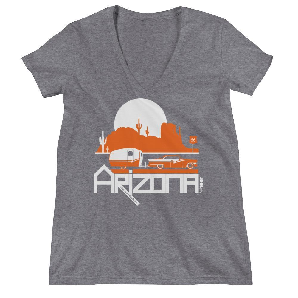 Arizona Retro Route 66 Women's Fashion Deep V-neck Tee