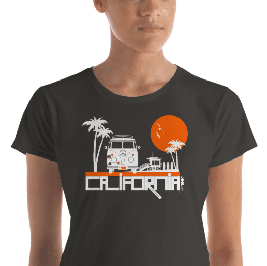 California  Beach Peace  Women's Short Sleeve T-Shirt T-Shirt  designed by JOOLcity