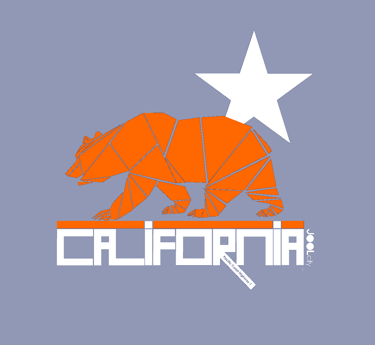 California Geo Bear Toddler Short Sleeve T-shirt T-Shirt  designed by JOOLcity