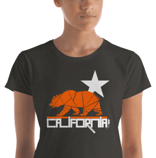 California  Geo Bear  Women's Short Sleeve T-Shirt T-Shirt  designed by JOOLcity