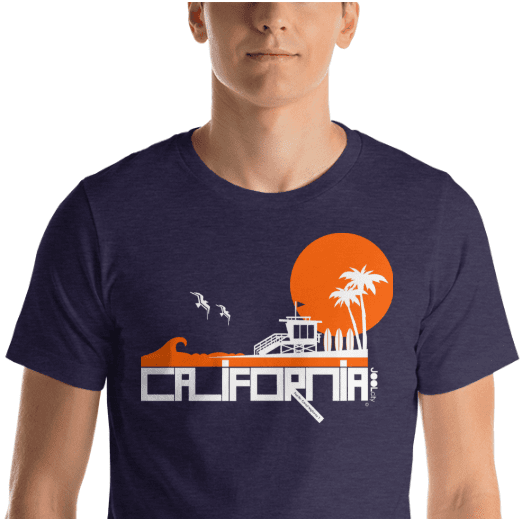 California Lifeguard Love Short-Sleeve Men's T-Shirt T-Shirt  designed by JOOLcity