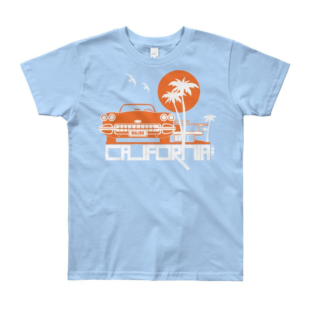 California Mid-Century Ride Short Sleeve Youth T-shirt T-Shirt Baby Blue / 12yrs designed by JOOLcity
