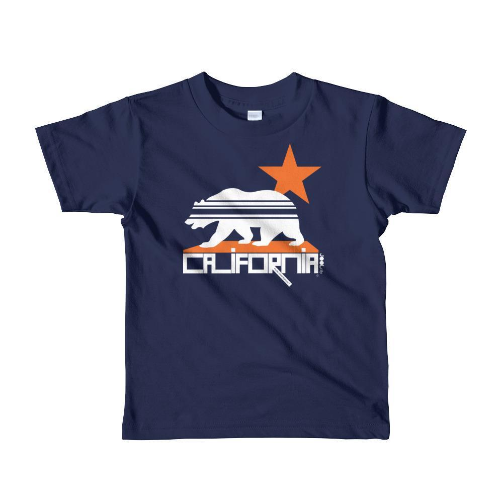California Stars & Stripes Toddler Short Sleeve T-shirt T-Shirt Navy / 6yrs designed by JOOLcity