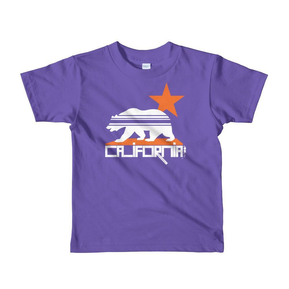 California Stars & Stripes Toddler Short Sleeve T-shirt T-Shirt Purple / 6yrs designed by JOOLcity
