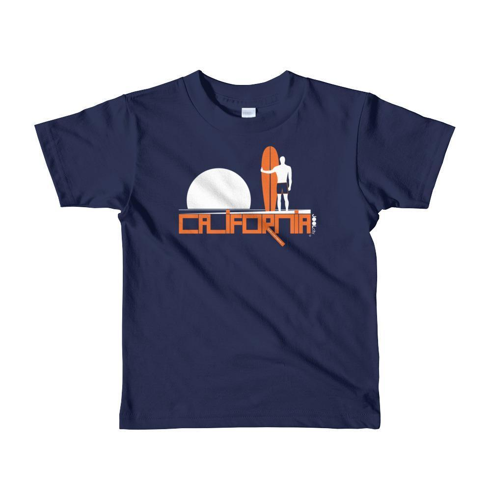 California Surf Silence Toddler Short Sleeve T-shirt T-Shirt Navy / 6yrs designed by JOOLcity