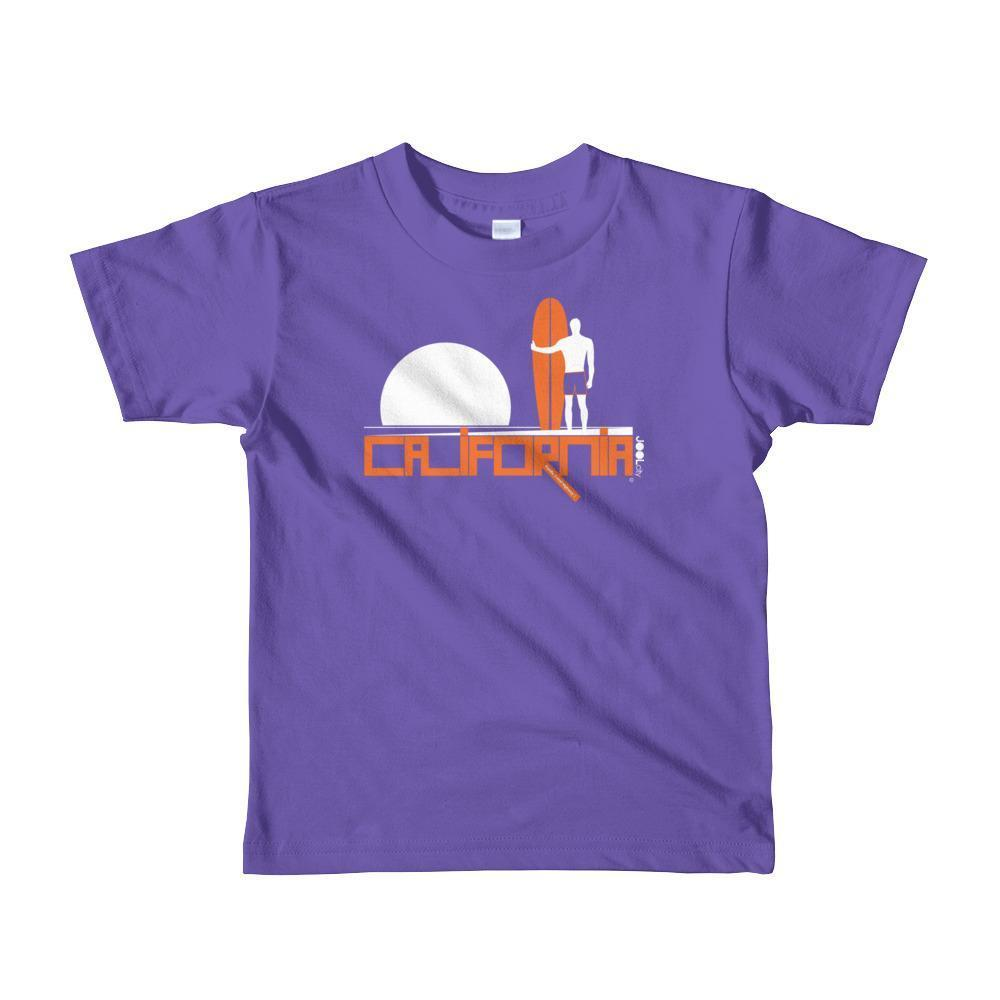 California Surf Silence Toddler Short Sleeve T-shirt T-Shirt Purple / 6yrs designed by JOOLcity