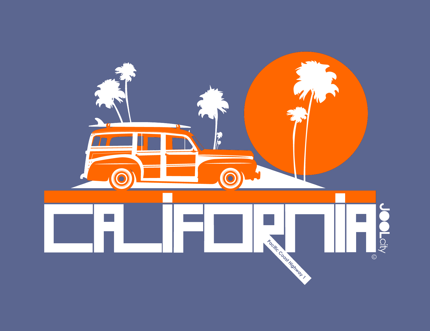 California  Woody Wagon  Baby Onesie