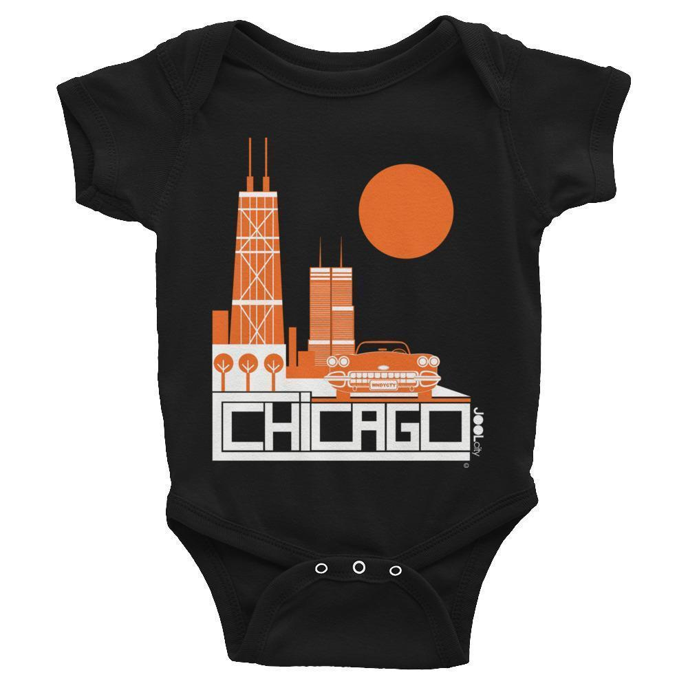 Chicago Downtown Ride Baby Onesie