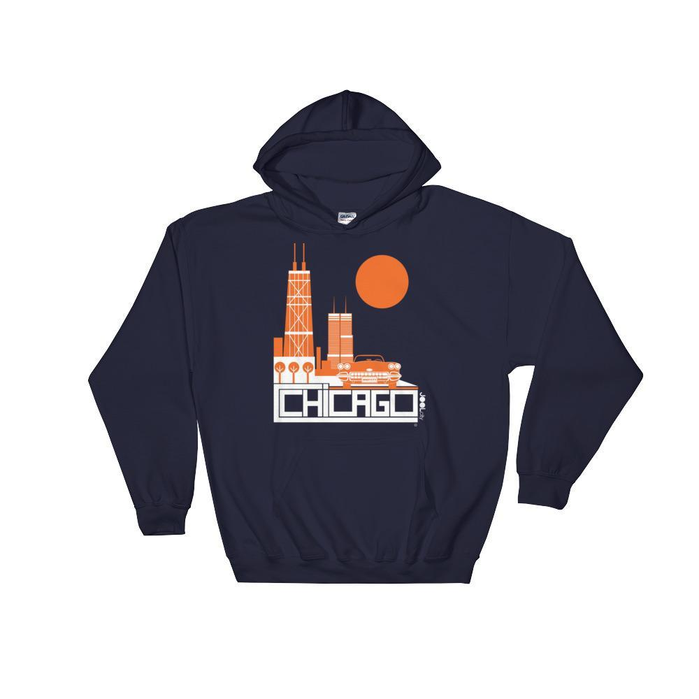 Chicago Downtown Ride Hooded Sweatshirt