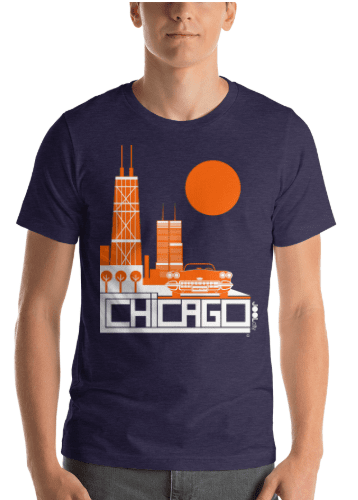 Chicago Downtown Ride Short-Sleeve Men's T-Shirt T-Shirt  designed by JOOLcity