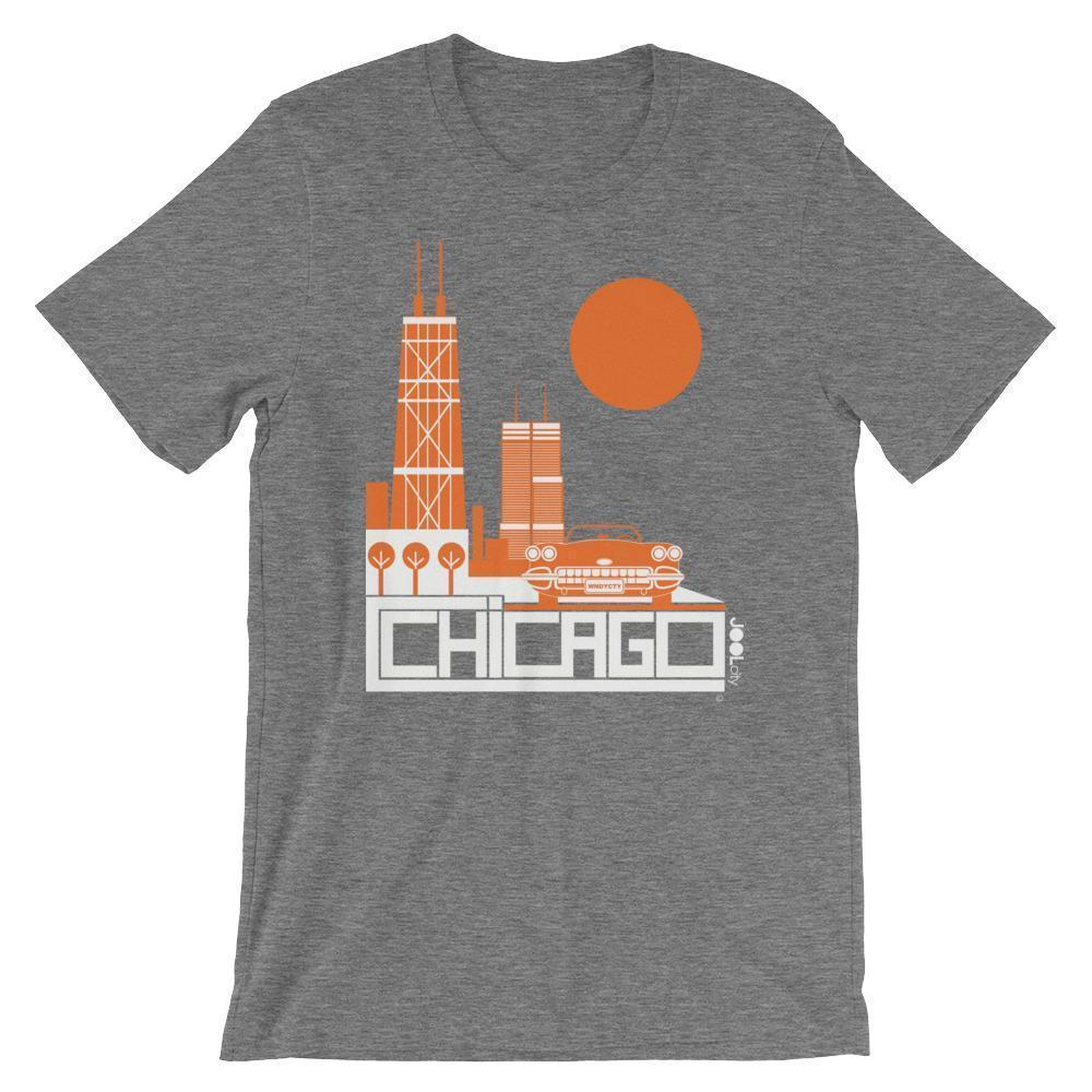 Chicago Downtown Ride Short-Sleeve Men's T-Shirt T-Shirt Deep Heather / 2XL designed by JOOLcity