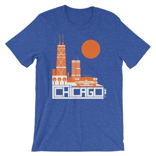 Chicago Downtown Ride Short-Sleeve Men's T-Shirt T-Shirt Heather True Royal / 2XL designed by JOOLcity