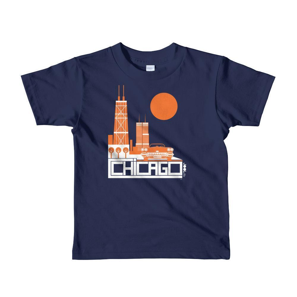 Chicago Downtown Ride Toddler Short Sleeve T-shirt T-Shirt Navy / 6yrs designed by JOOLcity