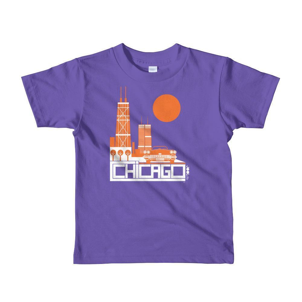 Chicago Downtown Ride Toddler Short Sleeve T-shirt T-Shirt Purple / 6yrs designed by JOOLcity