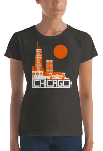 Chicago Downtown Ride Women's Short Sleeve T-shirt T-Shirt  designed by JOOLcity