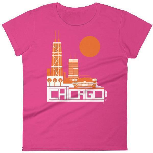 Chicago Downtown Ride Women's Short Sleeve T-shirt T-Shirt Hot Pink / 2XL designed by JOOLcity