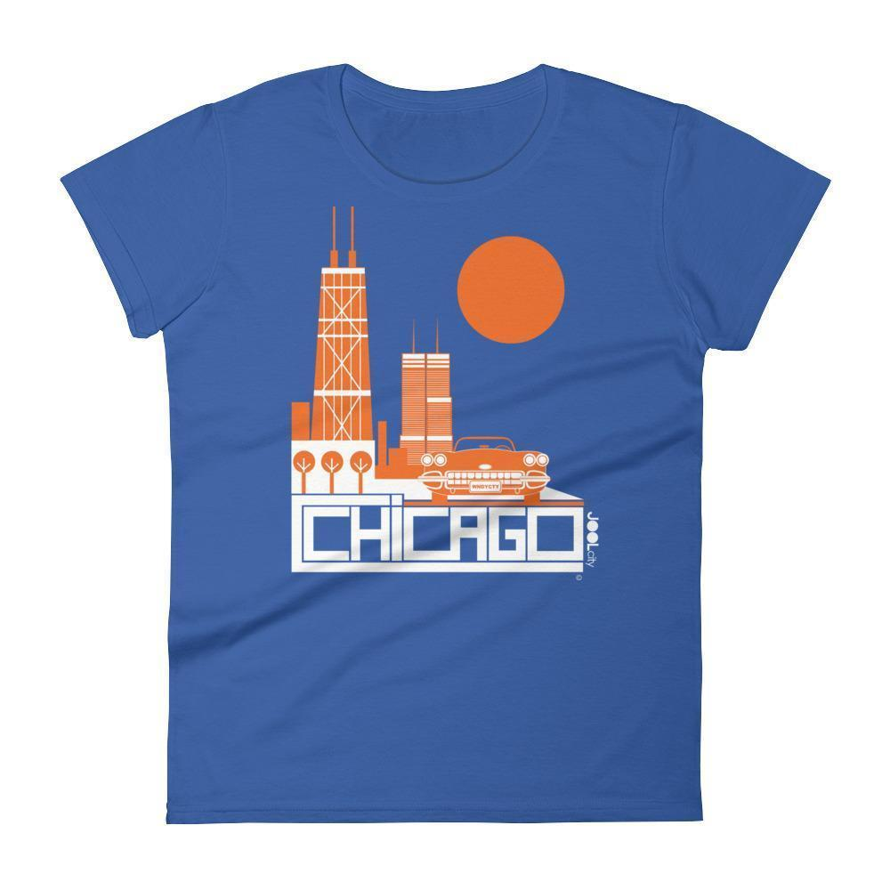 Chicago Downtown Ride Women's Short Sleeve T-shirt T-Shirt Royal Blue / 2XL designed by JOOLcity