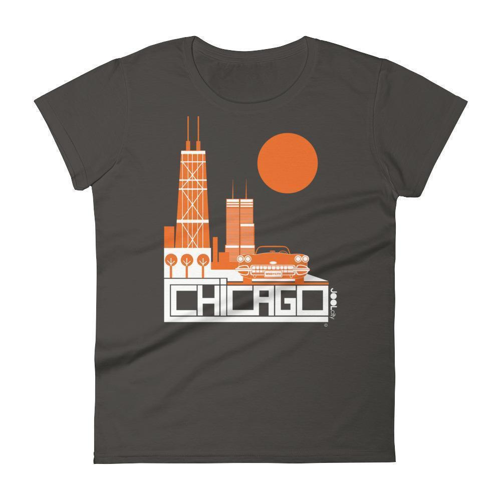 Chicago Downtown Ride Women's Short Sleeve T-shirt T-Shirt Smoke / 2XL designed by JOOLcity