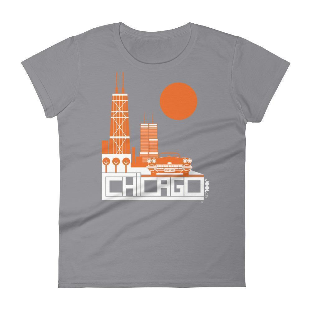 Chicago Downtown Ride Women's Short Sleeve T-shirt T-Shirt Storm Grey / 2XL designed by JOOLcity