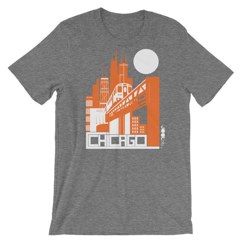 Chicago El Train Short-Sleeve Men's T-Shirt T-Shirt Deep Heather / 2XL designed by JOOLcity