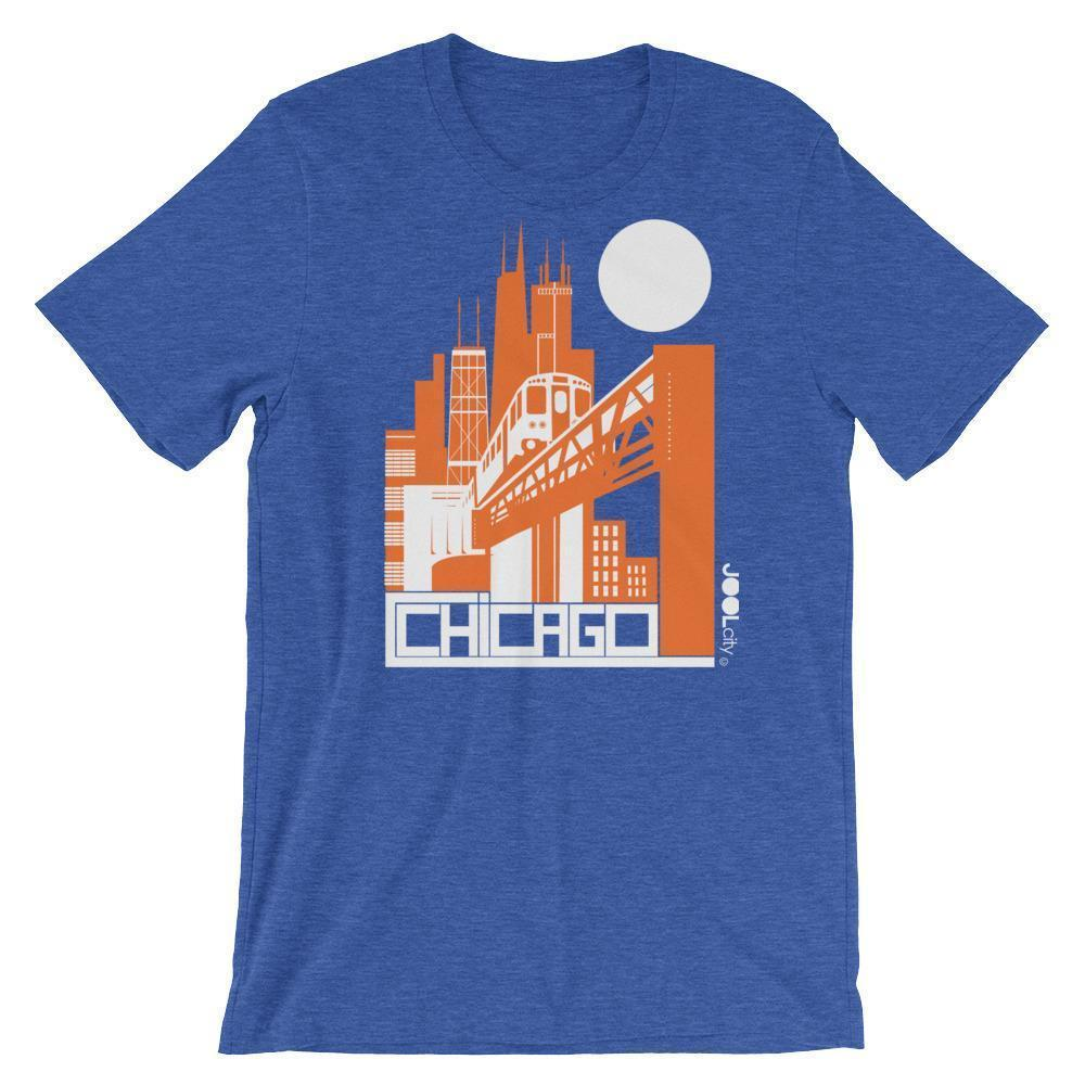 Chicago El Train Short-Sleeve Men's T-Shirt T-Shirt Heather True Royal / 2XL designed by JOOLcity