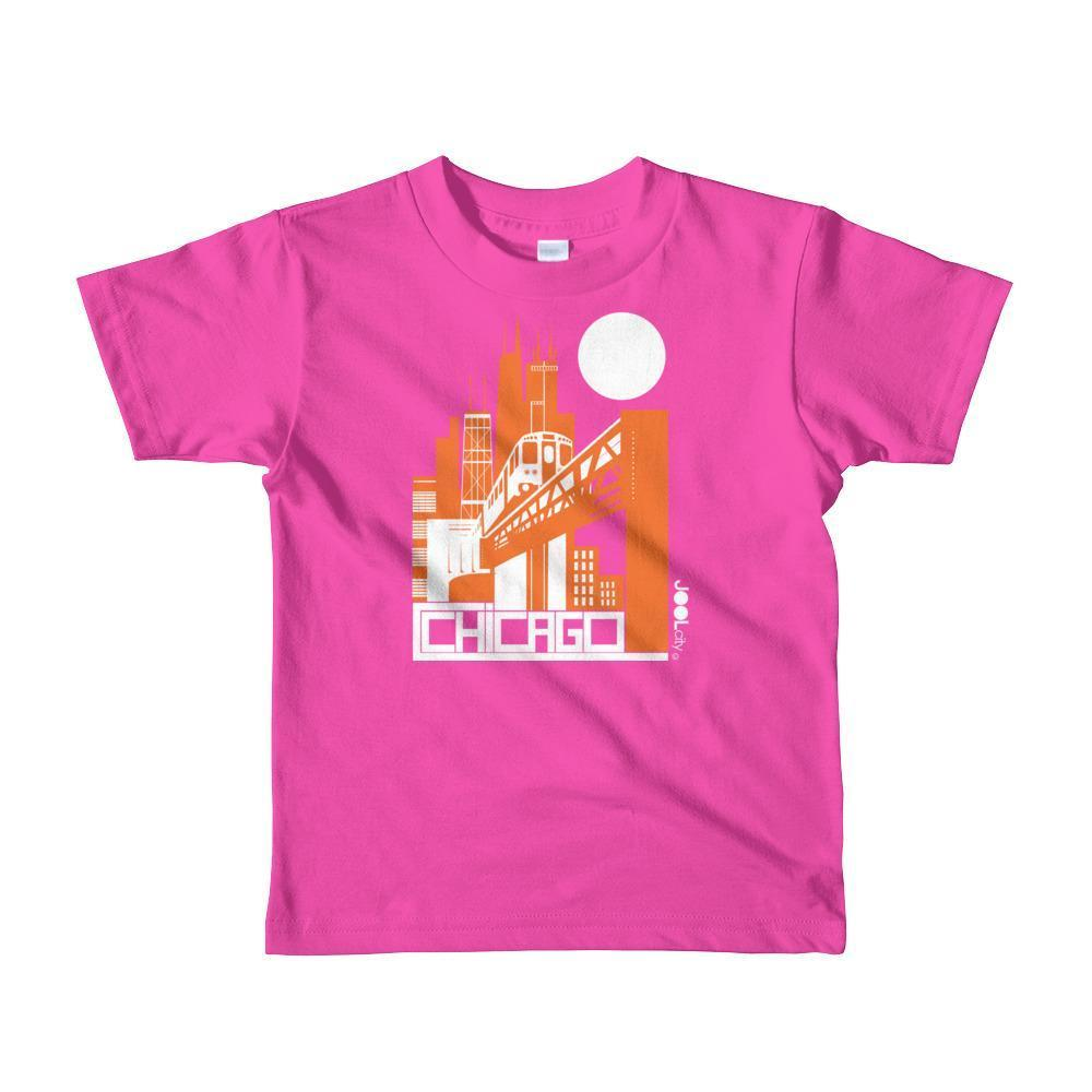 Chicago El Train Toddler Short Sleeve T-shirt T-Shirt Fuchsia / 6yrs designed by JOOLcity