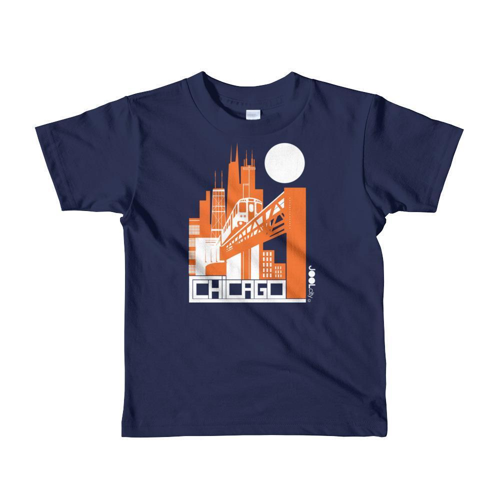 Chicago El Train Toddler Short Sleeve T-shirt T-Shirt Navy / 6yrs designed by JOOLcity