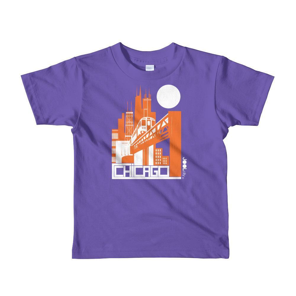 Chicago El Train Toddler Short Sleeve T-shirt T-Shirt Purple / 6yrs designed by JOOLcity