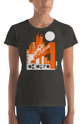 Chicago El Train Women's Short Sleeve T-shirt T-Shirt  designed by JOOLcity
