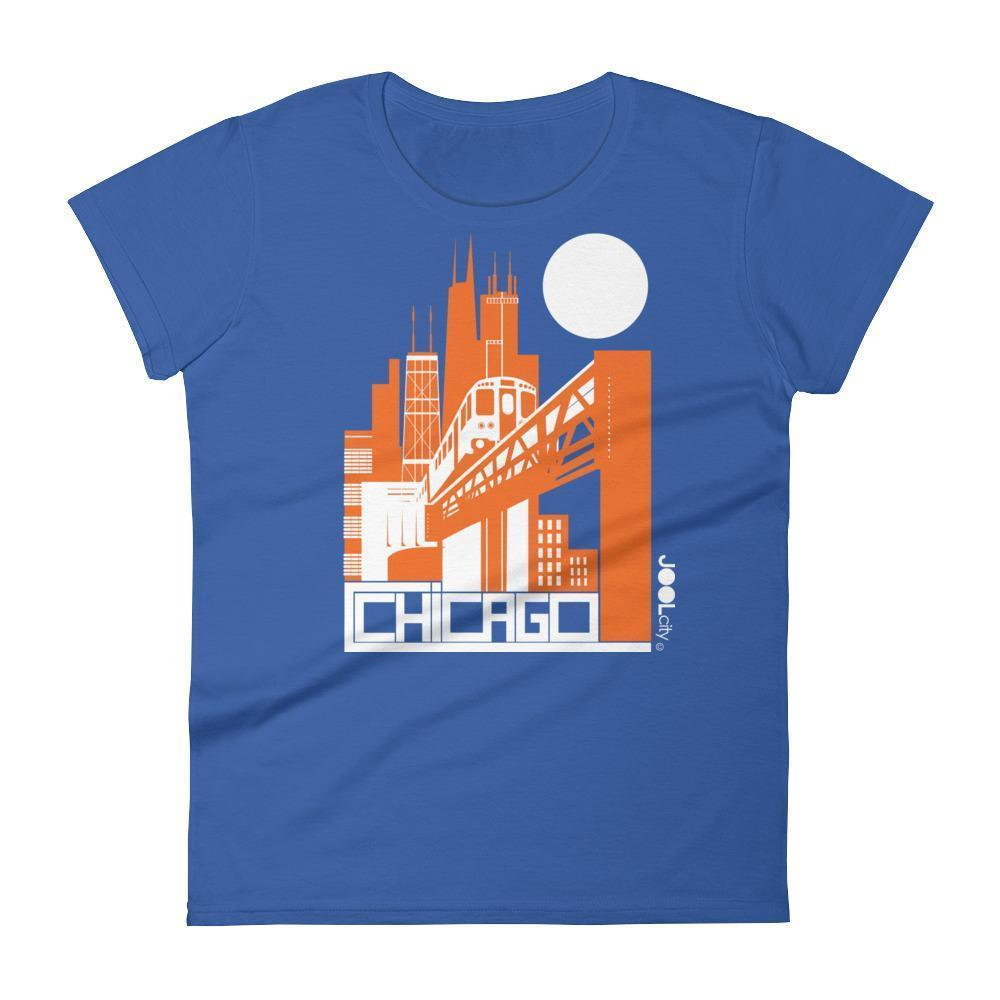 Chicago El Train Women's Short Sleeve T-shirt T-Shirt Royal Blue / 2XL designed by JOOLcity