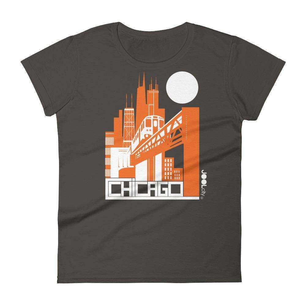 Chicago El Train Women's Short Sleeve T-shirt T-Shirt Smoke / 2XL designed by JOOLcity