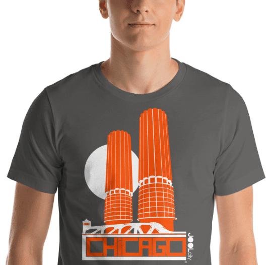 Chicago Marina Towers Short-Sleeve Men's T-Shirt T-Shirt  designed by JOOLcity