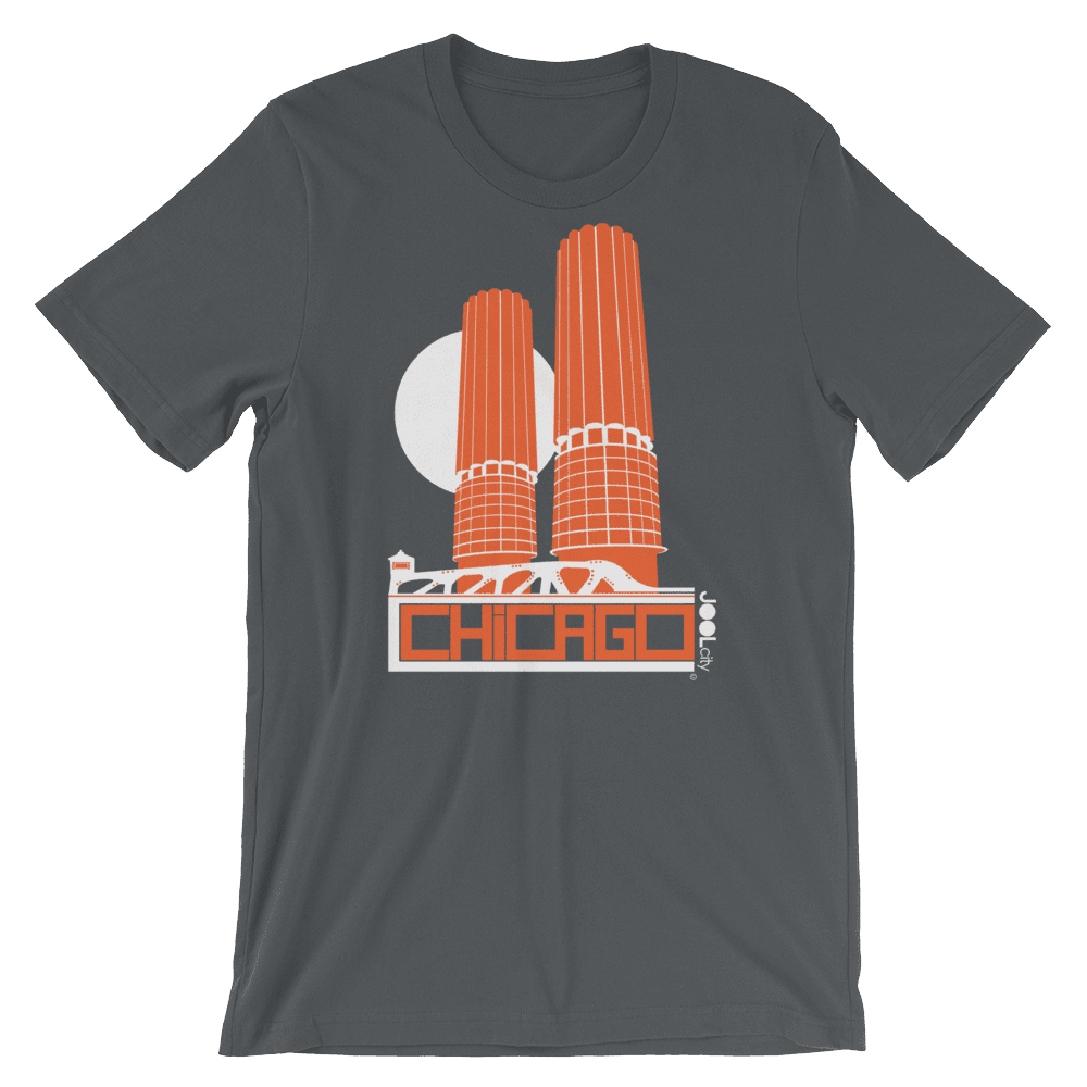 Chicago Marina Towers Short-Sleeve Men's T-Shirt T-Shirt Asphalt / 2XL designed by JOOLcity