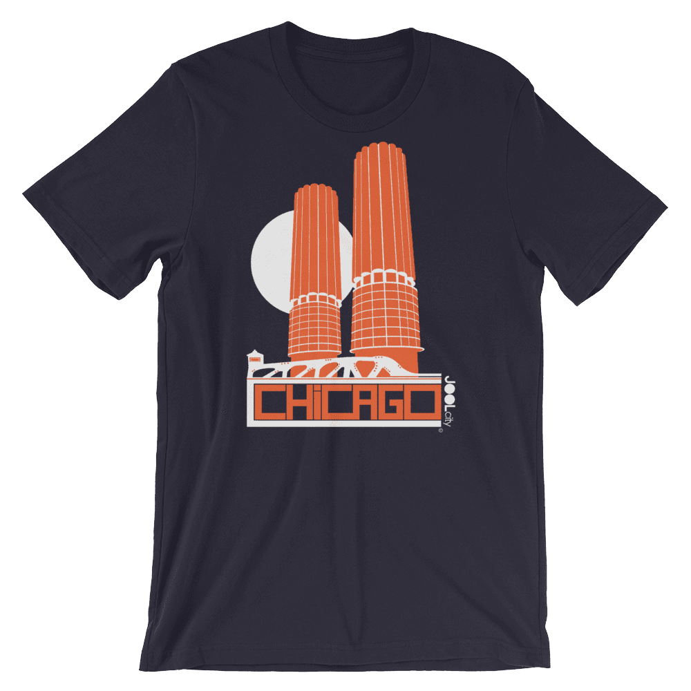 Chicago Marina Towers Short-Sleeve Men's T-Shirt T-Shirt Navy / 2XL designed by JOOLcity