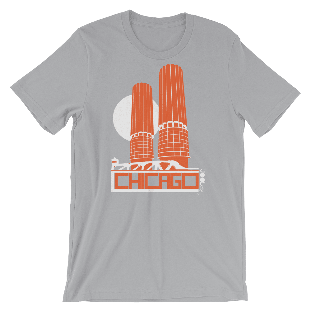 Chicago Marina Towers Short-Sleeve Men's T-Shirt T-Shirt Silver / 2XL designed by JOOLcity
