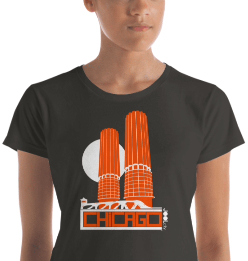 Chicago Marina Towers Women's Short Sleeve T-Shirt T-Shirt  designed by JOOLcity