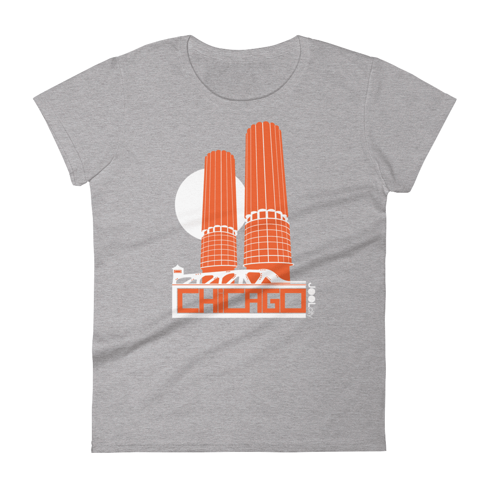 Chicago Marina Towers Women's Short Sleeve T-Shirt T-Shirt Heather Grey / 2XL designed by JOOLcity
