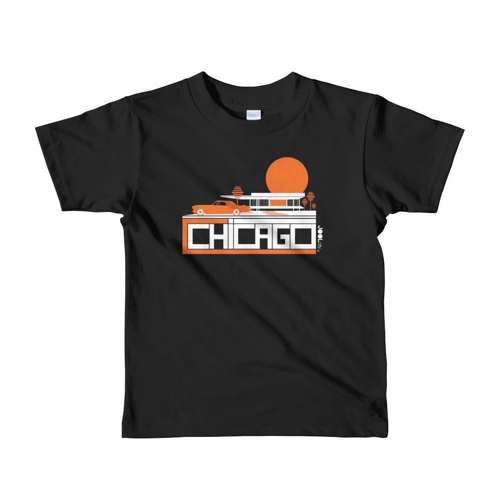 Chicago Mid-Century Ride Toddler Short Sleeve T-shirt T-Shirt Black / 6yrs designed by JOOLcity