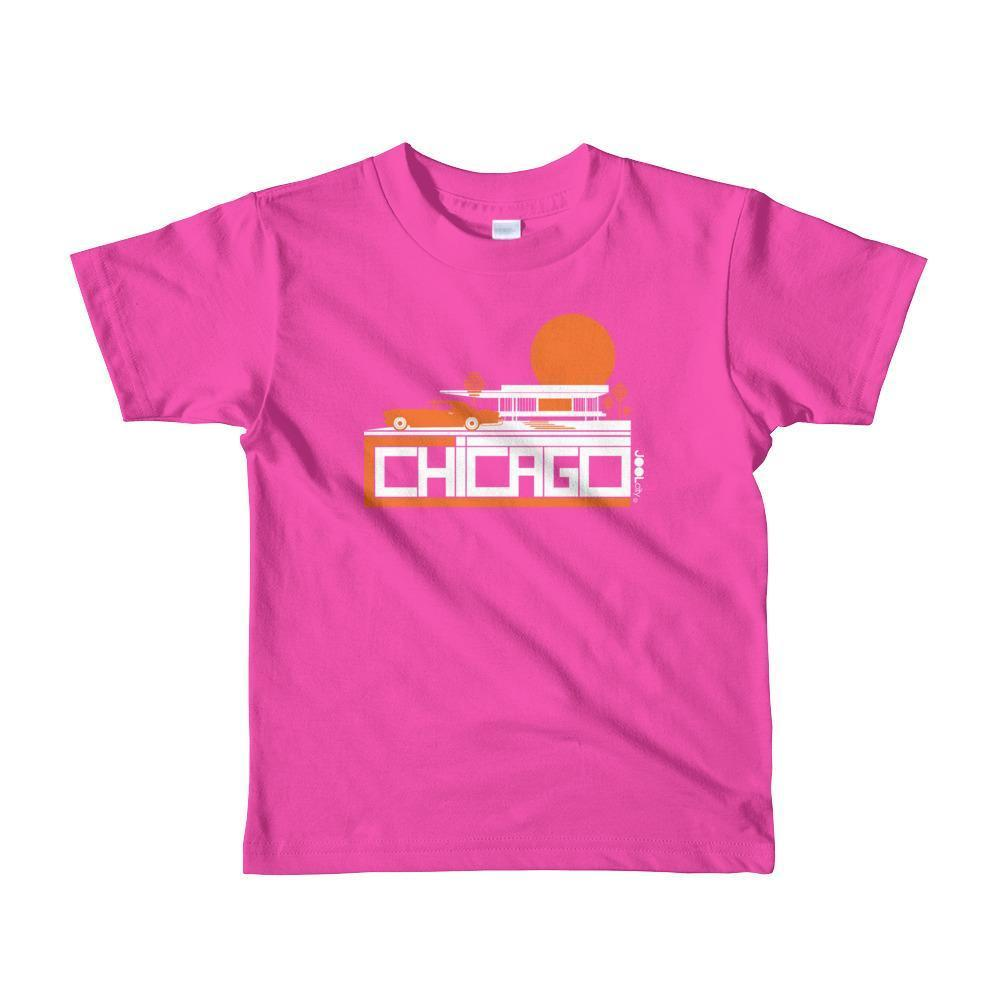 Chicago Mid-Century Ride Toddler Short Sleeve T-shirt T-Shirt Fuchsia / 6yrs designed by JOOLcity