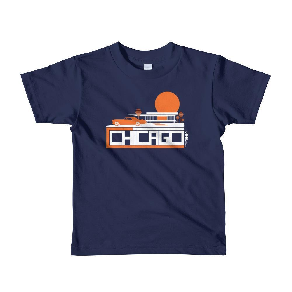 Chicago Mid-Century Ride Toddler Short Sleeve T-shirt T-Shirt Navy / 6yrs designed by JOOLcity
