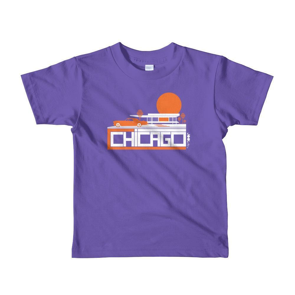 Chicago Mid-Century Ride Toddler Short Sleeve T-shirt T-Shirt Purple / 6yrs designed by JOOLcity