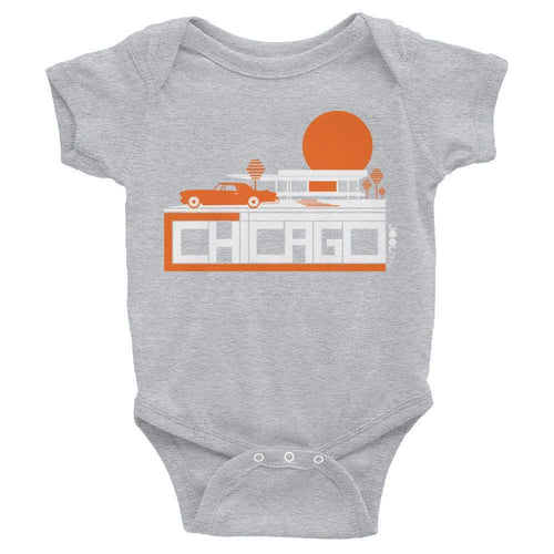 Chicago Midcentury Ride Baby Onesie