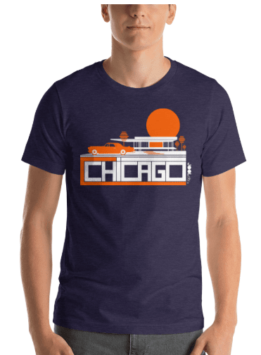 Chicago Midcentury Ride Short-Sleeve Men's T-Shirt T-Shirt  designed by JOOLcity