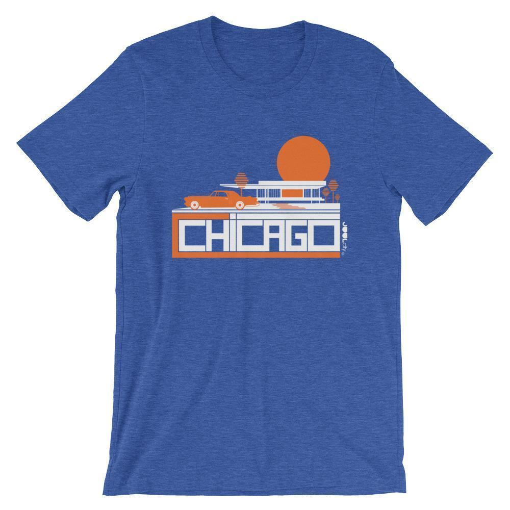 Chicago Midcentury Ride Short-Sleeve Men's T-Shirt T-Shirt Heather True Royal / 2XL designed by JOOLcity