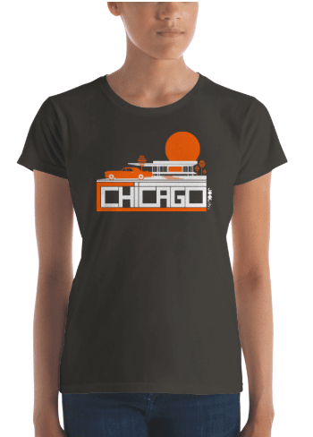 Chicago Midcentury Ride Women's Short Sleeve T-shirt T-Shirt  designed by JOOLcity