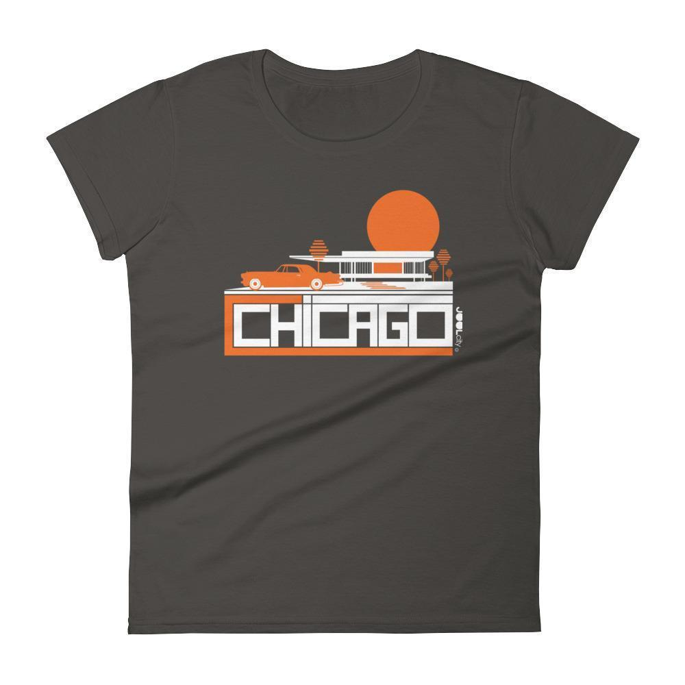 Chicago Midcentury Ride Women's Short Sleeve T-shirt T-Shirt Smoke / 2XL designed by JOOLcity