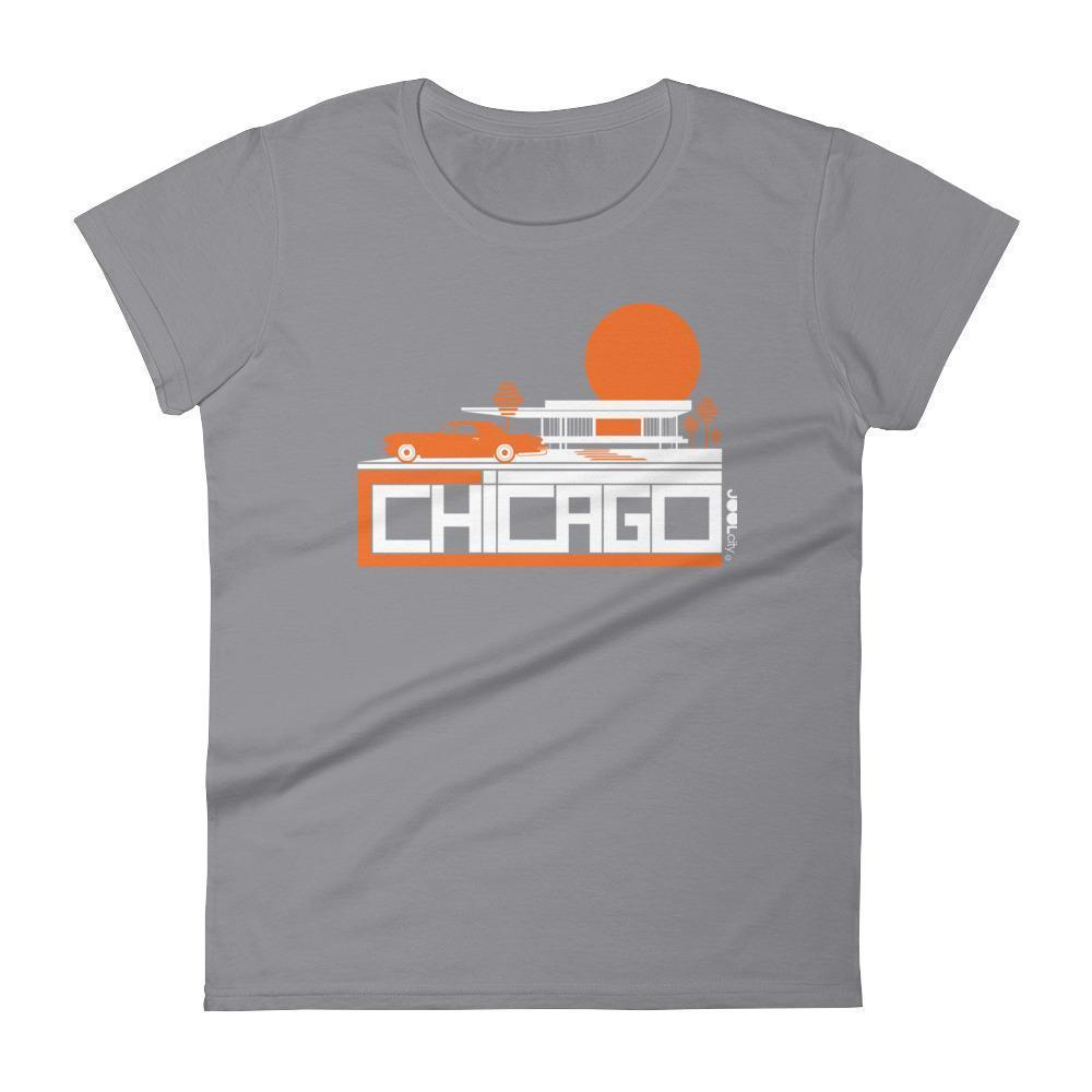 Chicago Midcentury Ride Women's Short Sleeve T-shirt T-Shirt Storm Grey / 2XL designed by JOOLcity